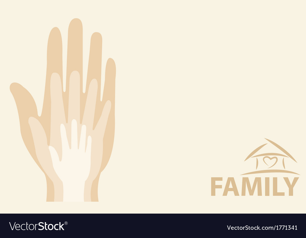 Hands of the family vector | Price: 1 Credit (USD $1)