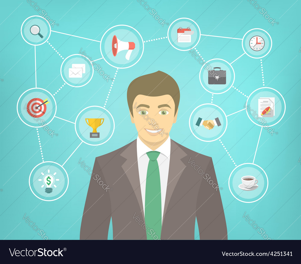 Modern businessman conceptual infographics vector   Price: 1 Credit (USD $1)