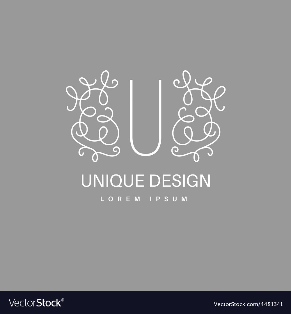 Monogram with floral border vector | Price: 1 Credit (USD $1)