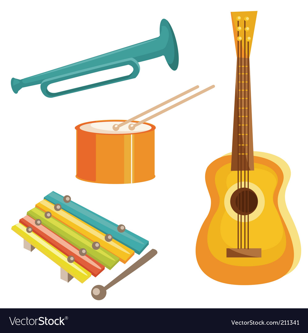 Music objects vector | Price: 1 Credit (USD $1)