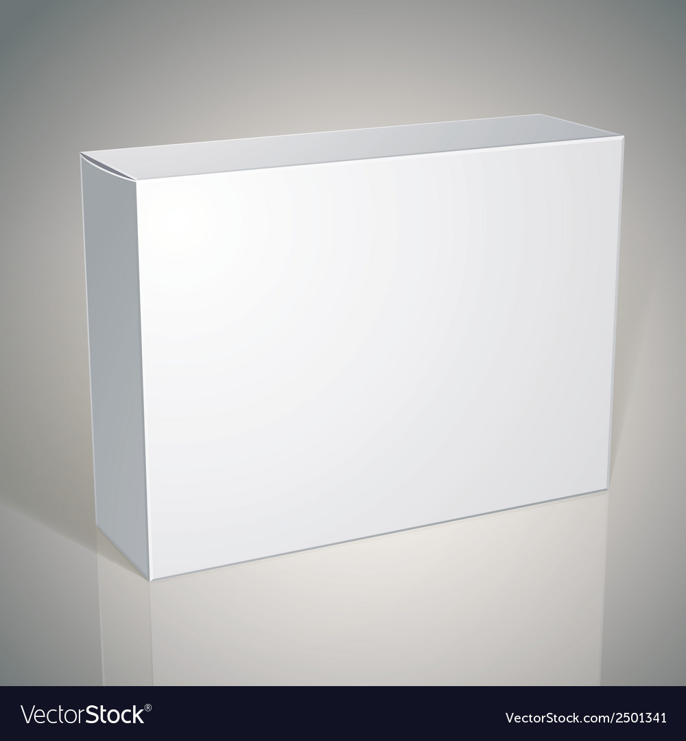 Package white box design template for your package vector | Price: 1 Credit (USD $1)