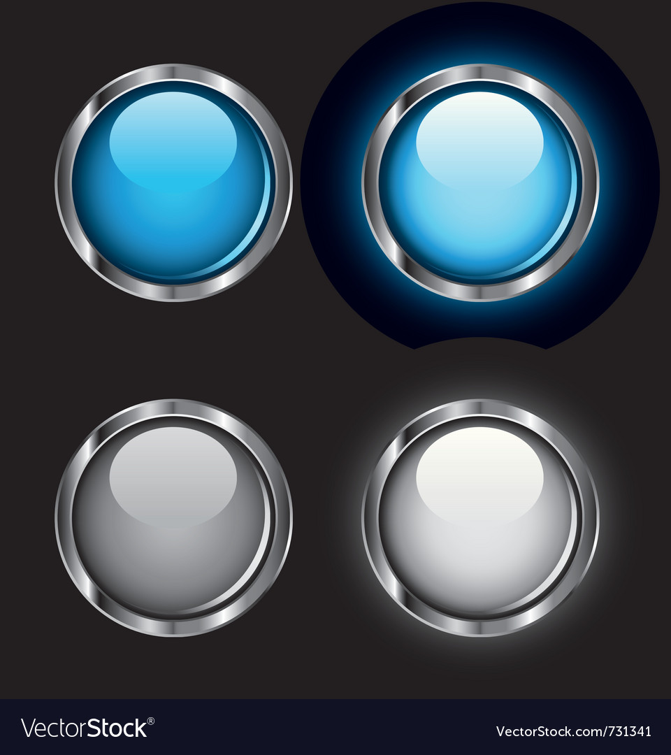 Shiny rollover web buttons vector | Price: 1 Credit (USD $1)
