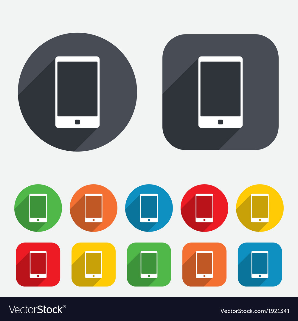 Smartphone sign icon support symbol vector | Price: 1 Credit (USD $1)