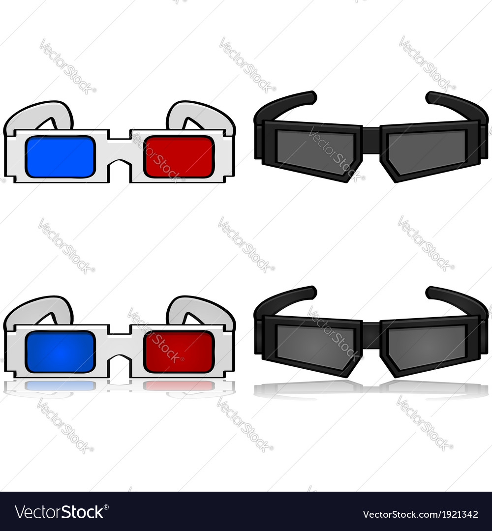 3d glasses vector   Price: 1 Credit (USD $1)