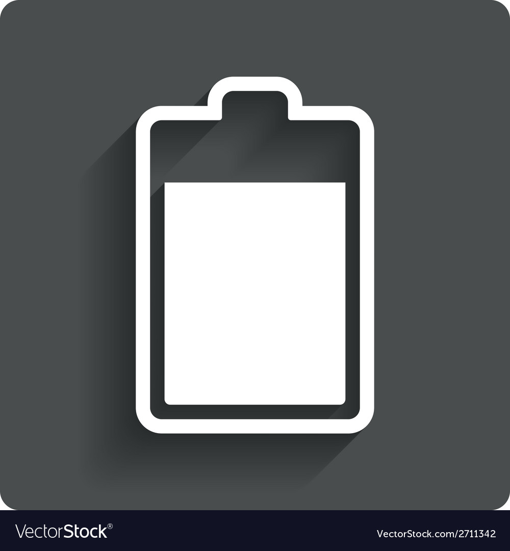 Battery level sign icon electricity symbol vector | Price: 1 Credit (USD $1)