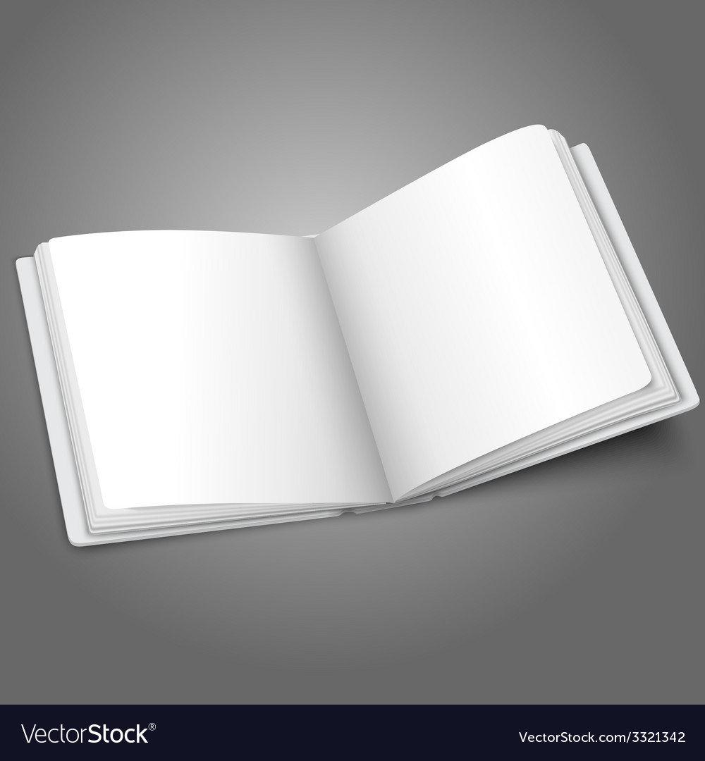 Blank white opened book or photo album for your vector | Price: 1 Credit (USD $1)