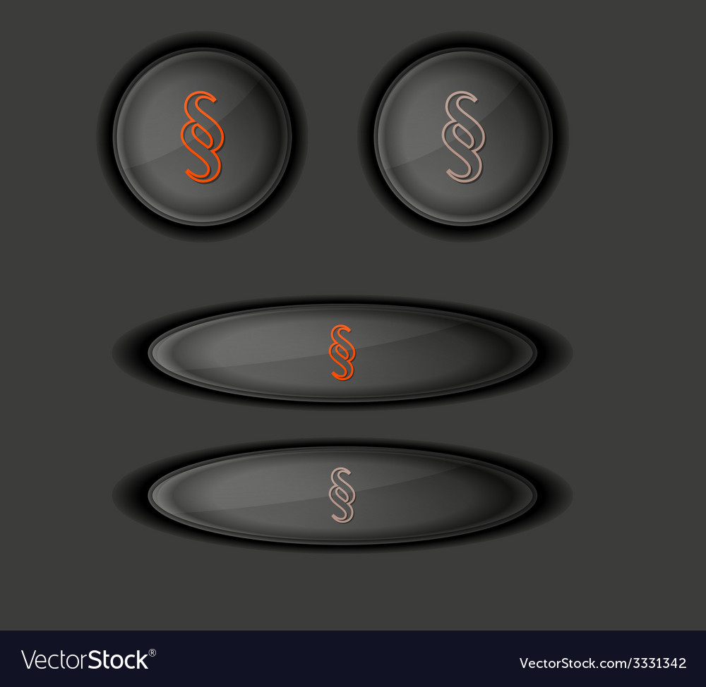 Button with paragraph vector | Price: 1 Credit (USD $1)