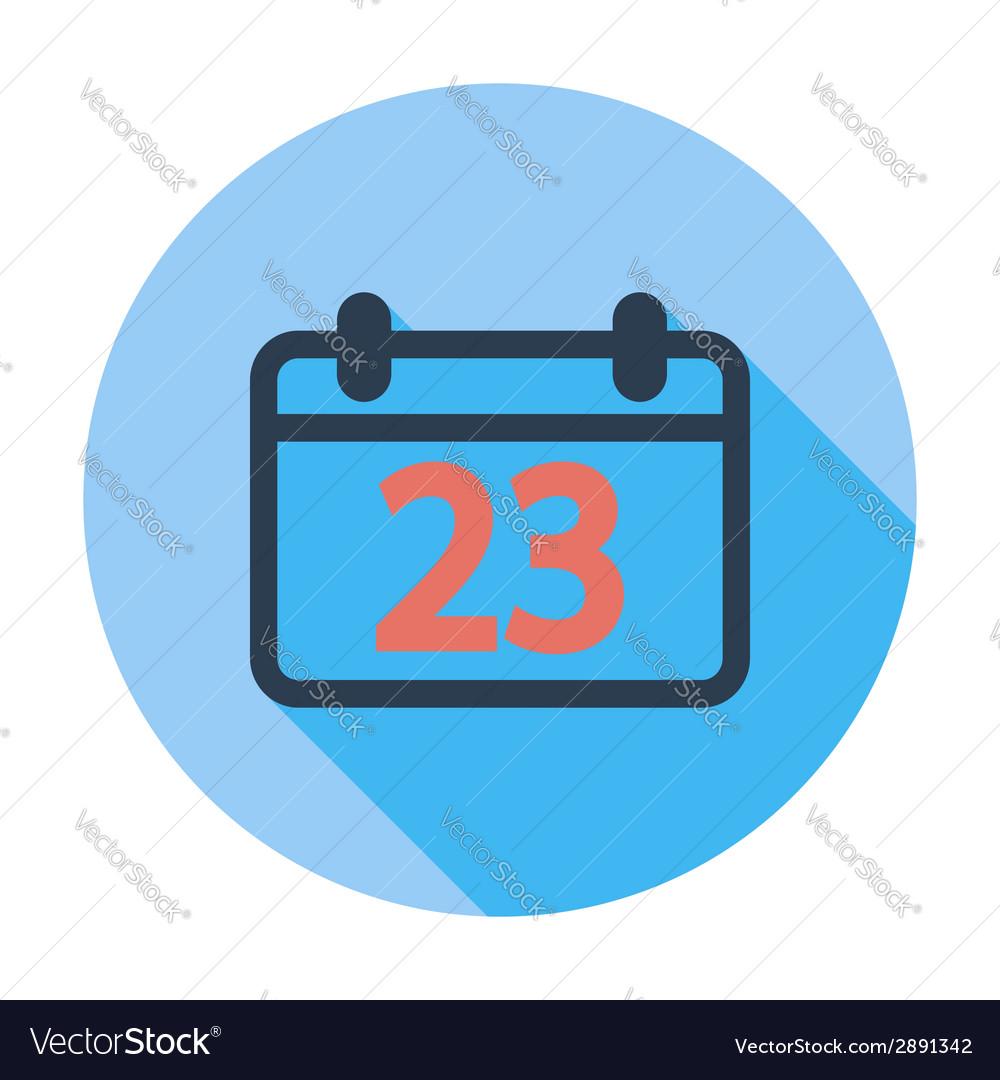 Calendar flat icon vector   Price: 1 Credit (USD $1)