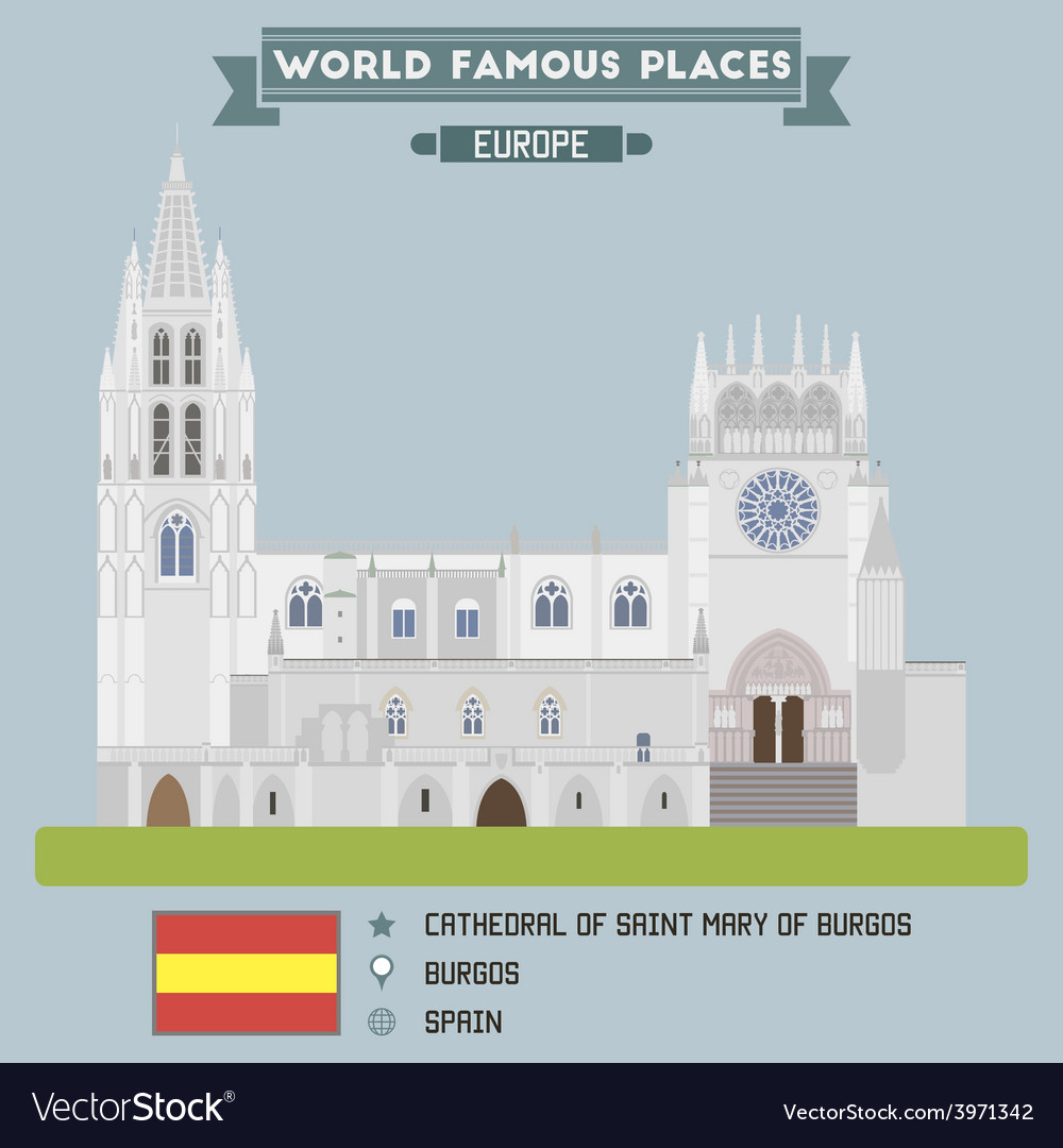 Cathedral of saint mary of burgos vector | Price: 1 Credit (USD $1)