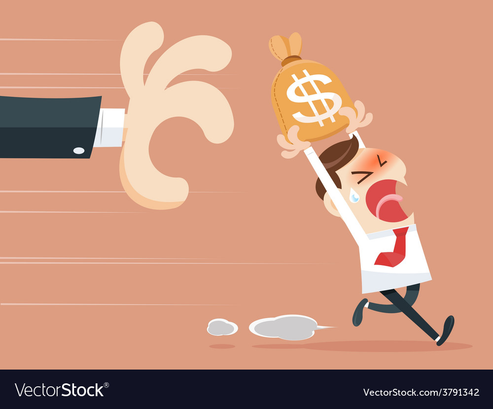 Hand grabbing money bag vector | Price: 1 Credit (USD $1)