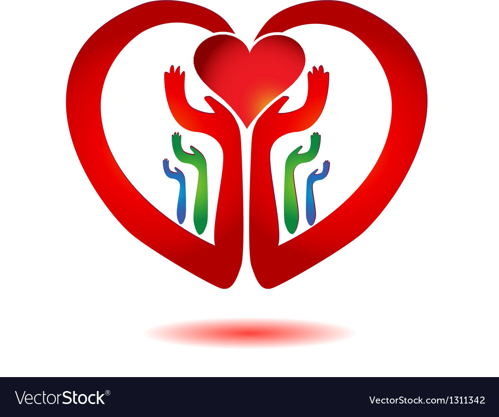 Hands holding a heart icon vector | Price: 1 Credit (USD $1)