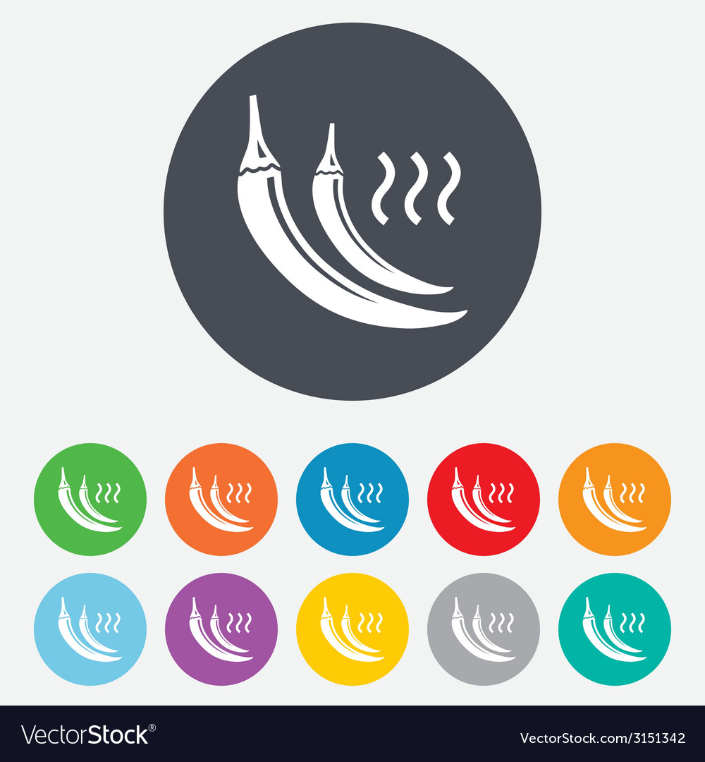 Hot chili pepper sign icon spicy food symbol vector   Price: 1 Credit (USD $1)