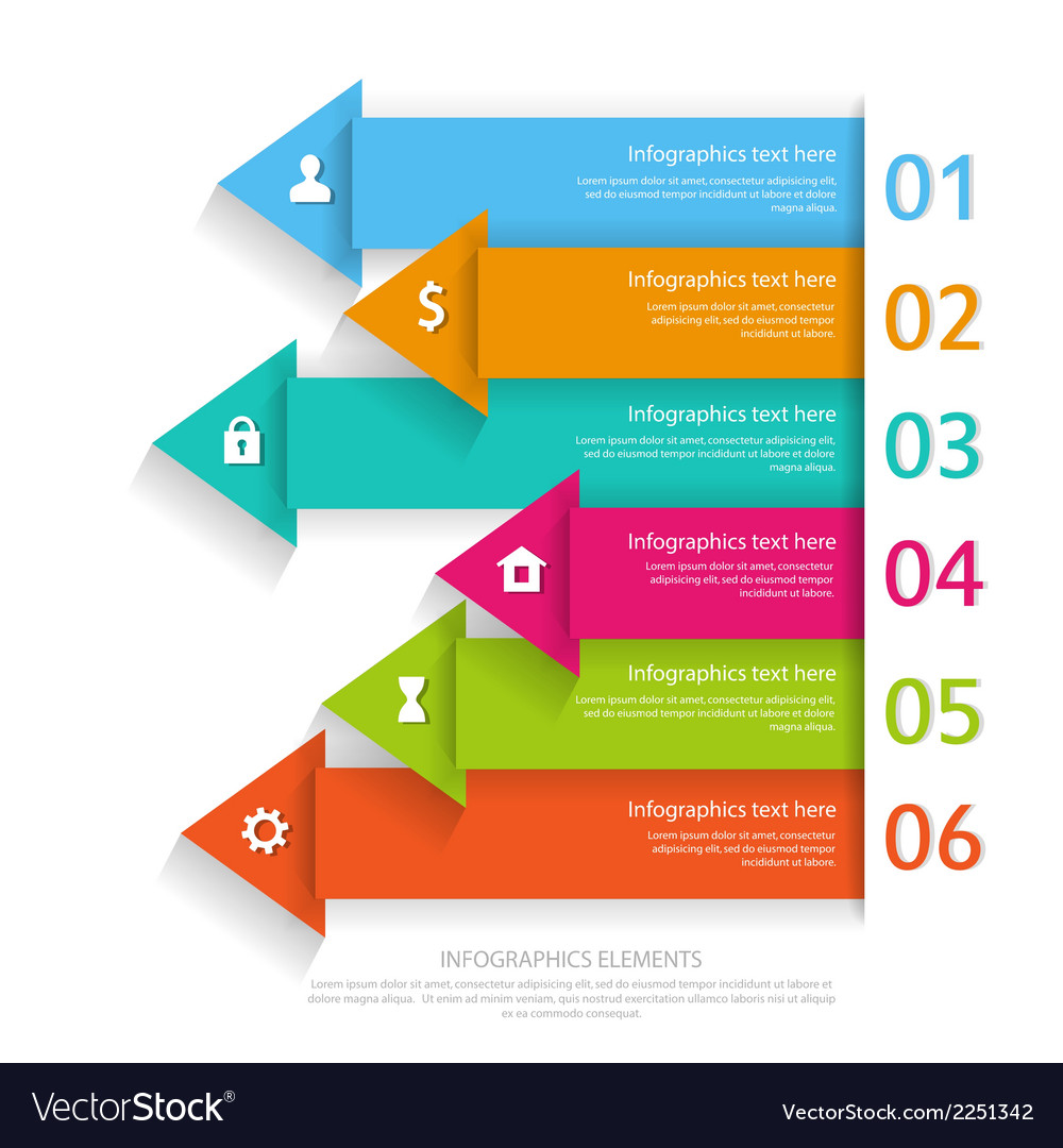 Modern business infographics abstract arrows vector | Price: 1 Credit (USD $1)
