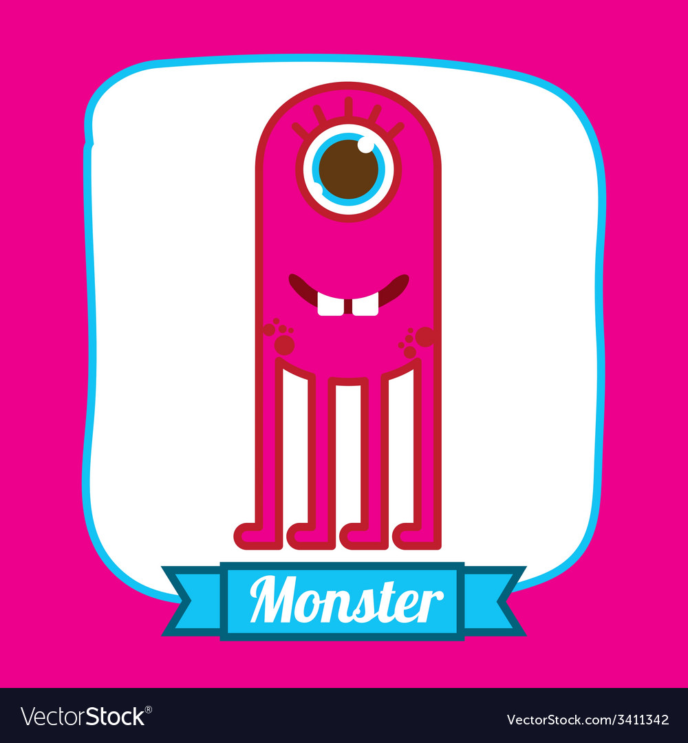 Monster design vector | Price: 1 Credit (USD $1)