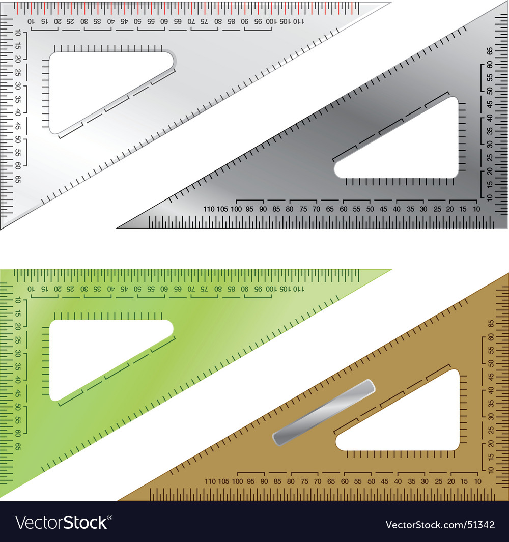 Set of drafting triangles vector   Price: 1 Credit (USD $1)