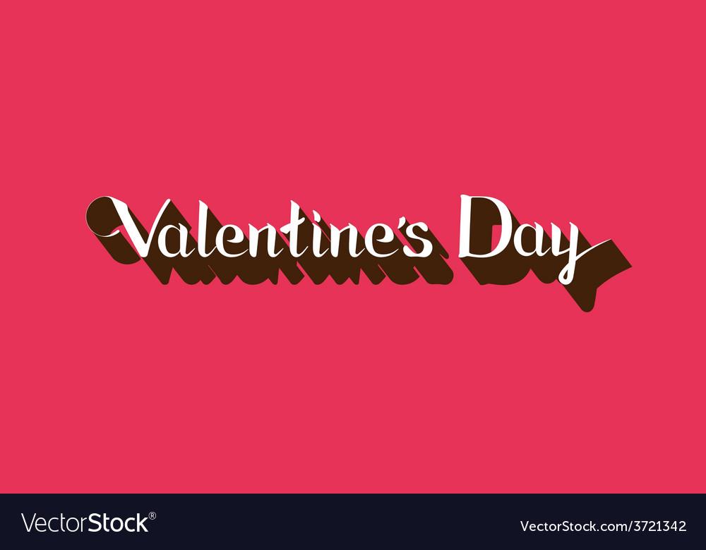 Valentines day lettering emblem vector | Price: 1 Credit (USD $1)