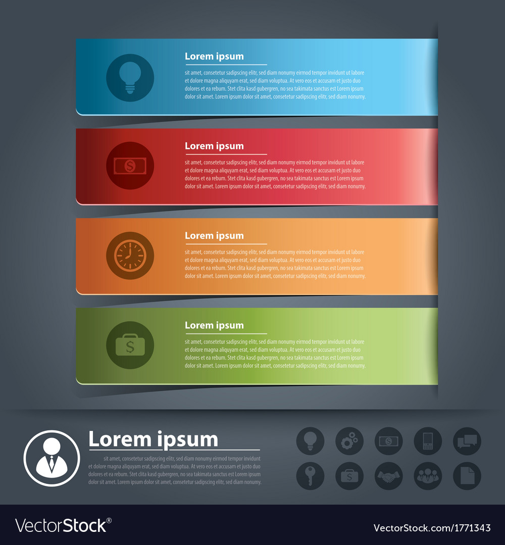 Banner business infographics vector | Price: 1 Credit (USD $1)