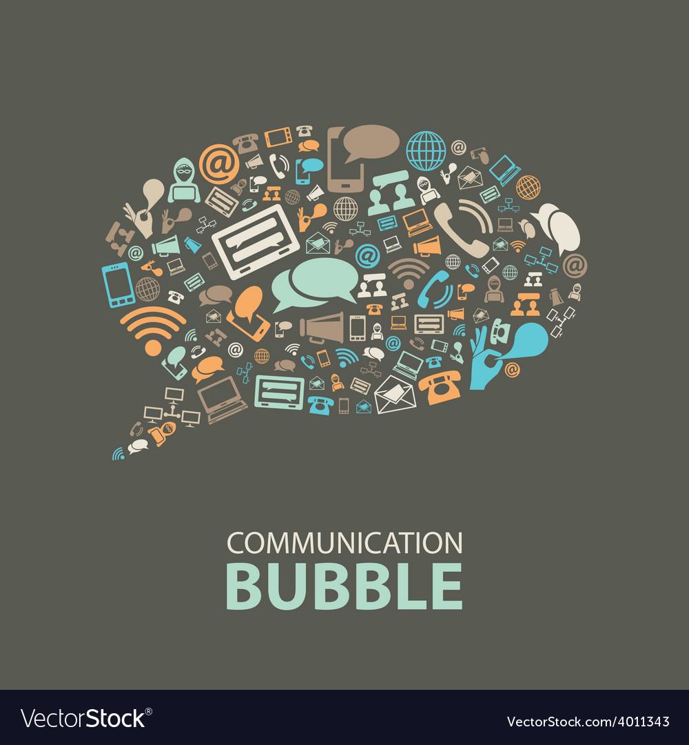 Communication bubble vector   Price: 1 Credit (USD $1)