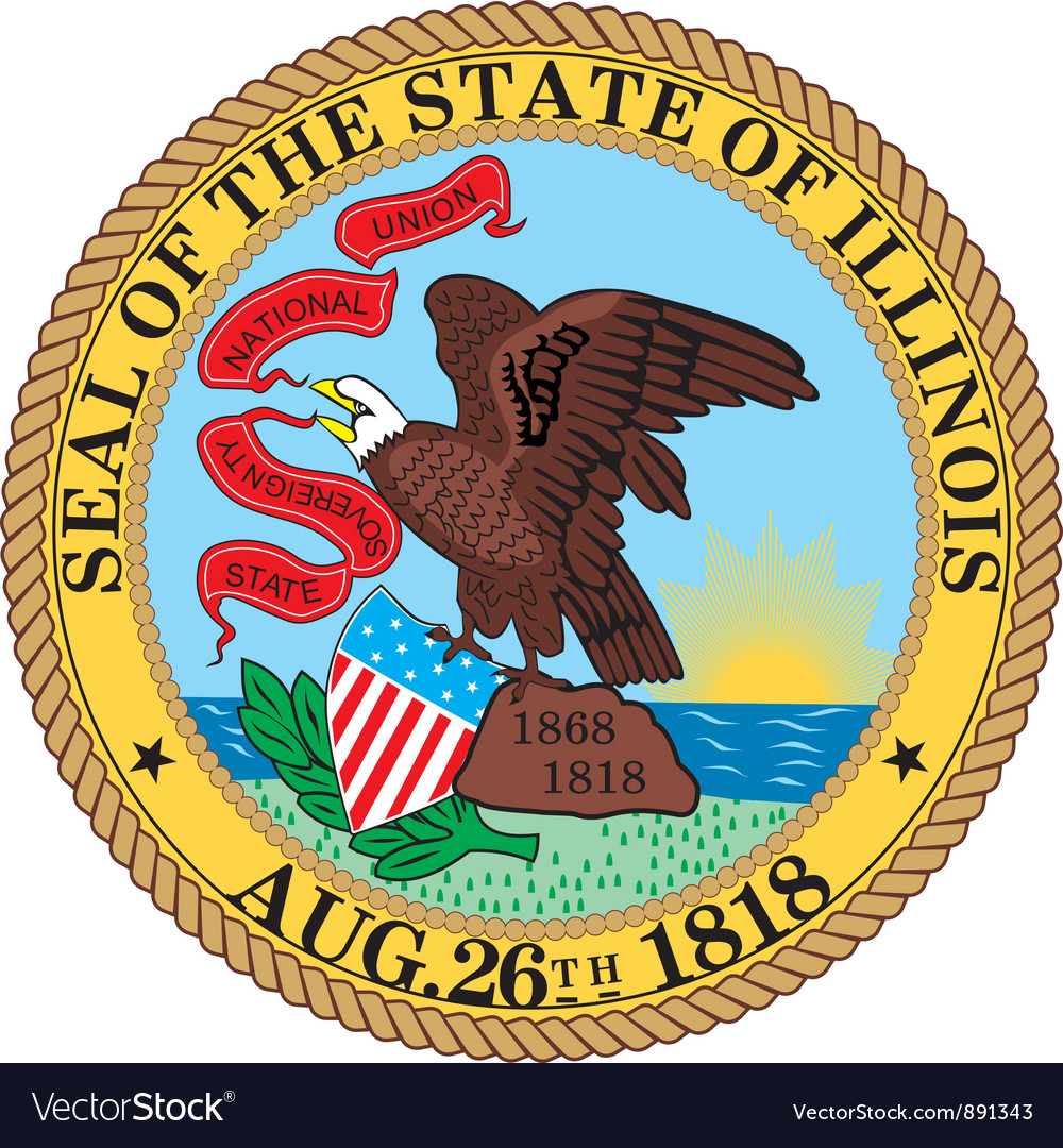 Illinois seal vector | Price: 1 Credit (USD $1)