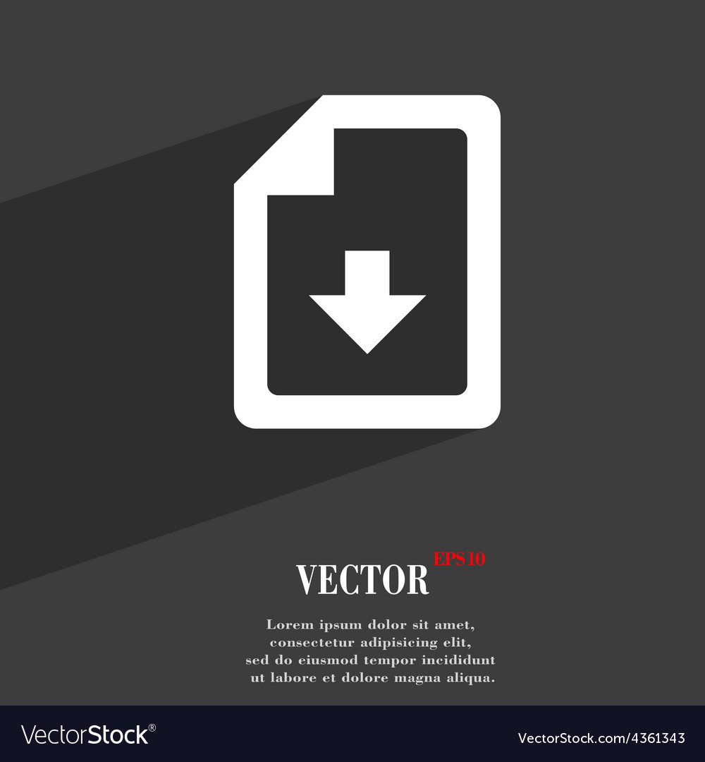 Import download file icon symbol flat modern web vector | Price: 1 Credit (USD $1)
