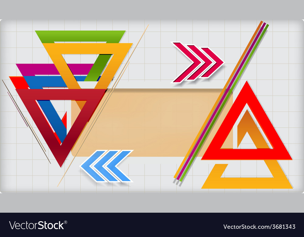 Modern geometric template vector | Price: 1 Credit (USD $1)