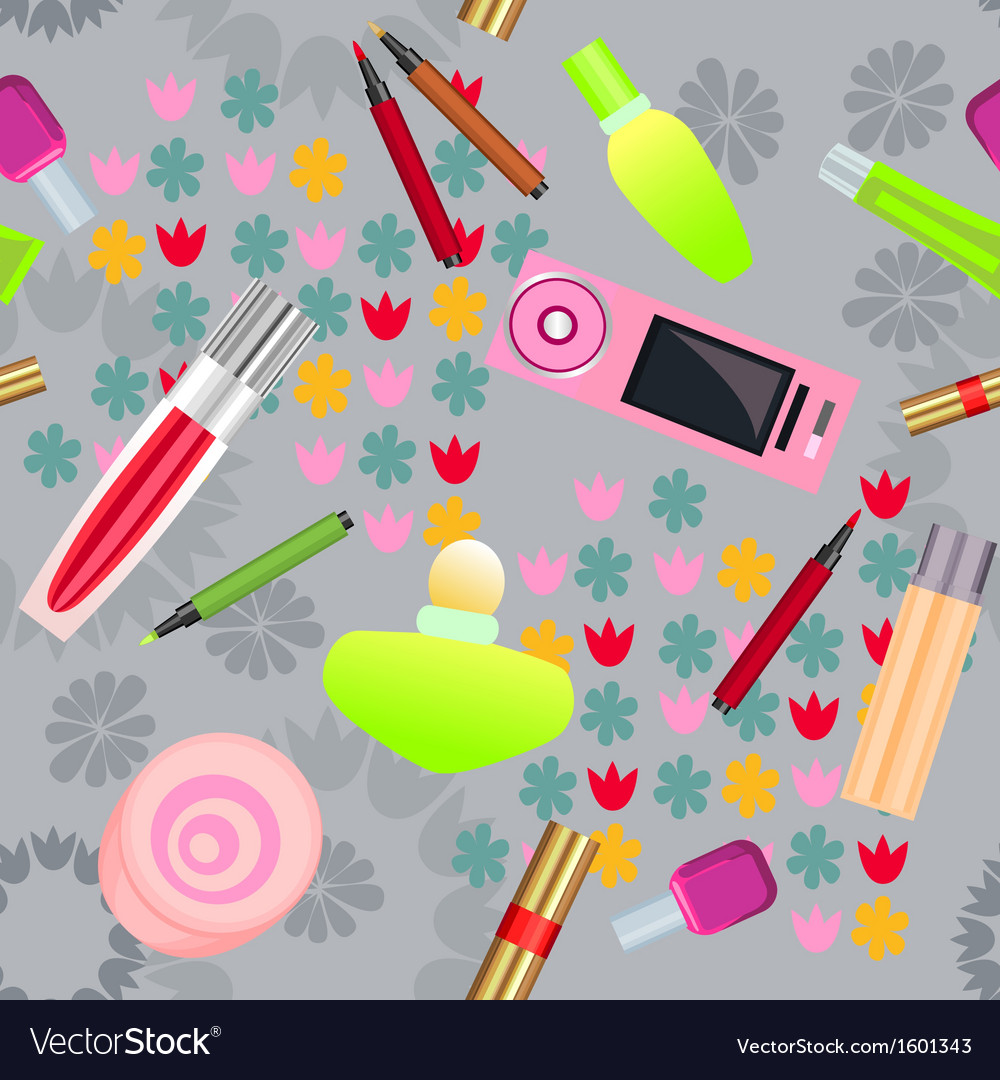 Seamless pattern with cosmetics vector | Price: 1 Credit (USD $1)