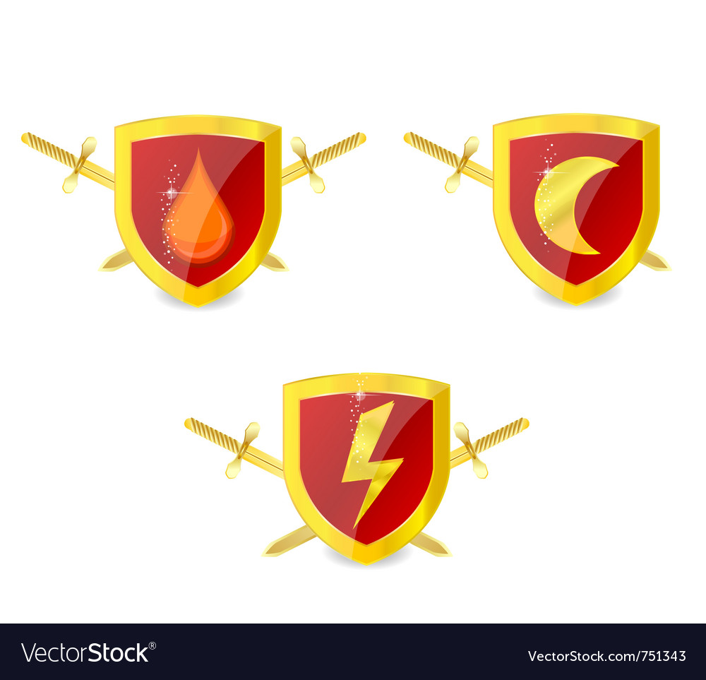 Security shields vector | Price: 3 Credit (USD $3)