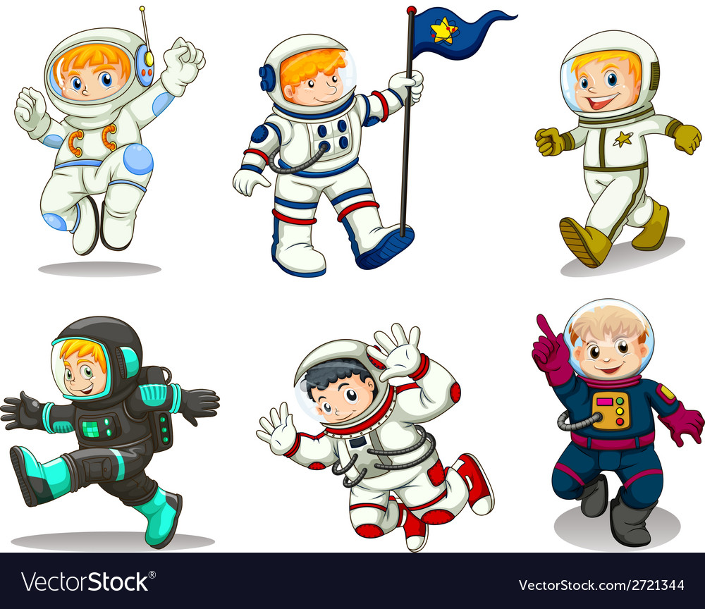 A group of astronomers vector | Price: 1 Credit (USD $1)