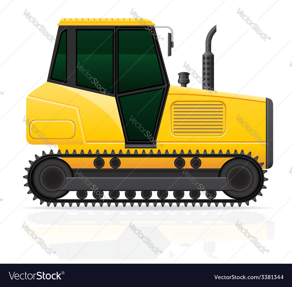 Caterpillar tractor 01 vector | Price: 3 Credit (USD $3)