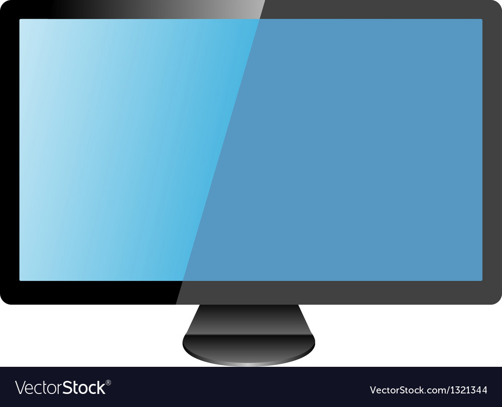 Computer monitor vector | Price: 1 Credit (USD $1)