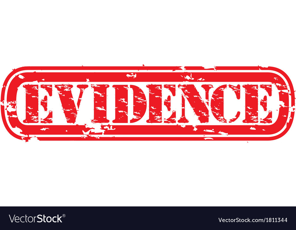 Evidence grunge rubber stamp vector | Price: 1 Credit (USD $1)