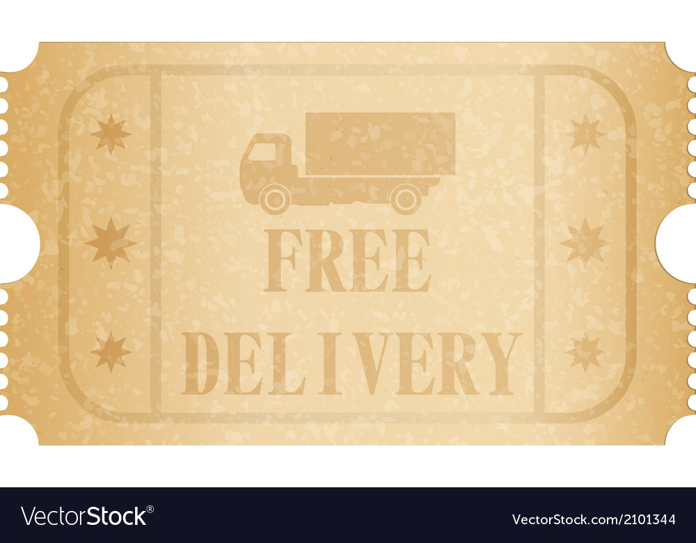 Free delivery ticket vector | Price: 1 Credit (USD $1)