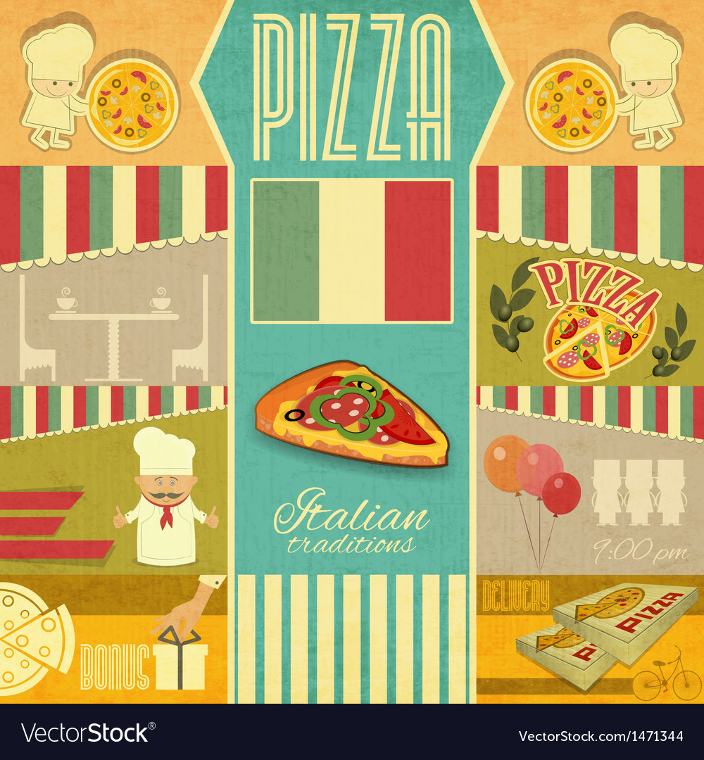 Menu for pizzeria vector | Price: 1 Credit (USD $1)