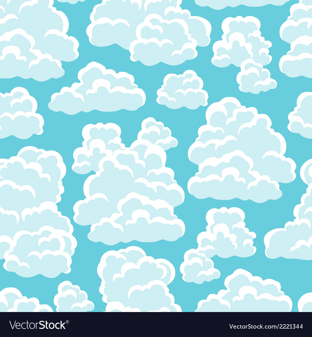 Seamless abstract pattern with sky and clouds vector   Price: 1 Credit (USD $1)