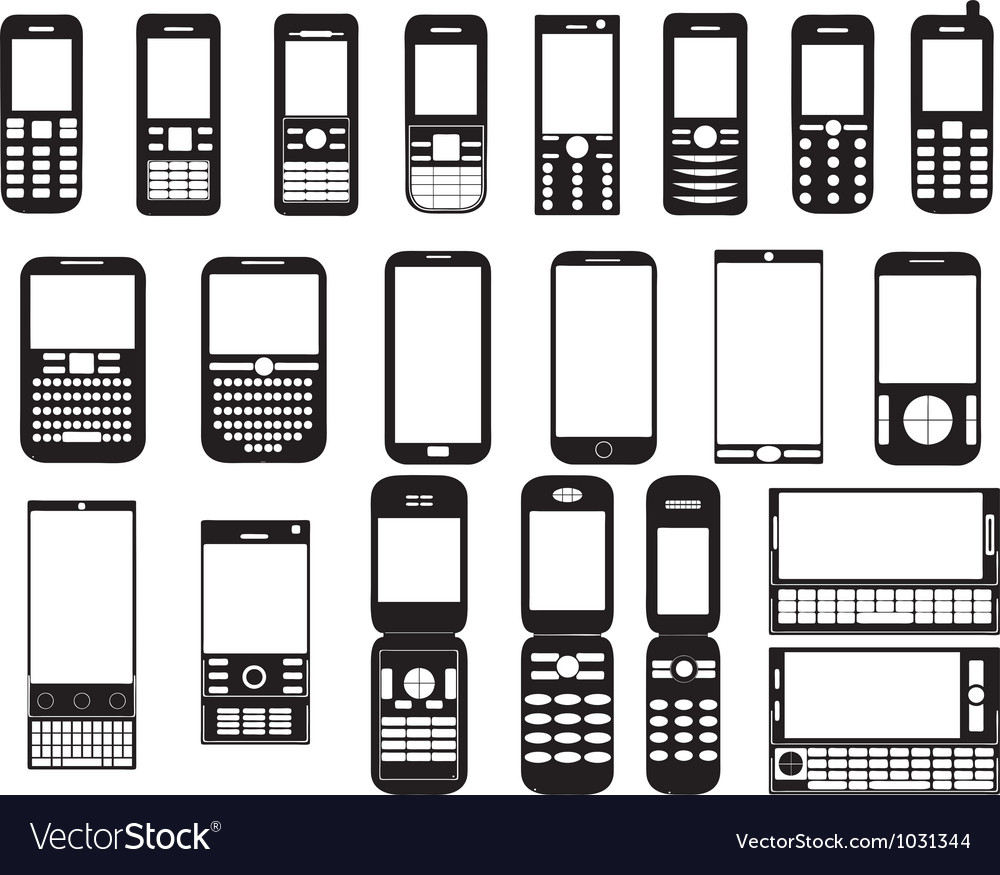 Set of mobile phones vector | Price: 1 Credit (USD $1)