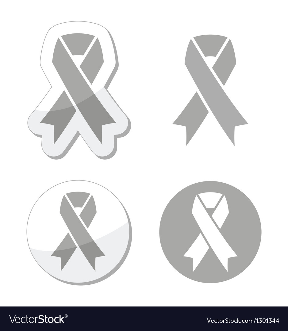 Silver ribbon - children with disabilities sign vector | Price: 1 Credit (USD $1)