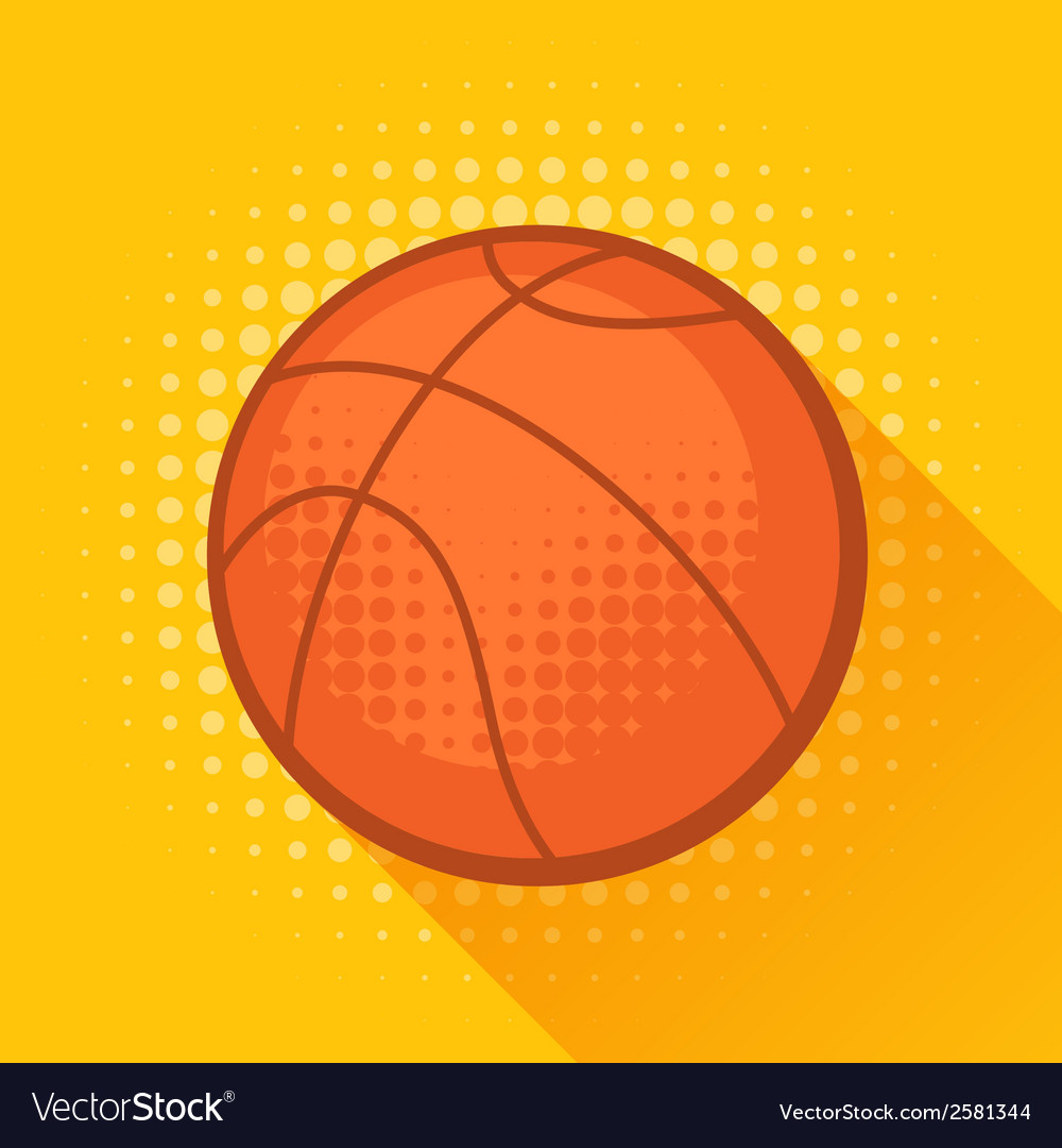 Sports with basketball ball in flat style vector | Price: 1 Credit (USD $1)