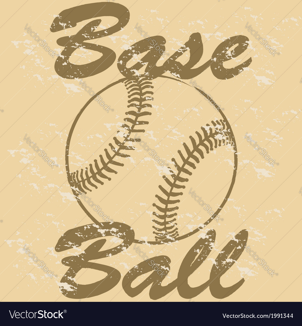 Vintage baseball vector | Price: 1 Credit (USD $1)