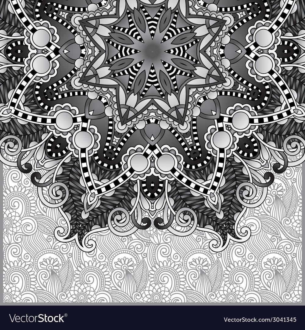 Circle grey lace ornament round ornamental vector | Price: 1 Credit (USD $1)