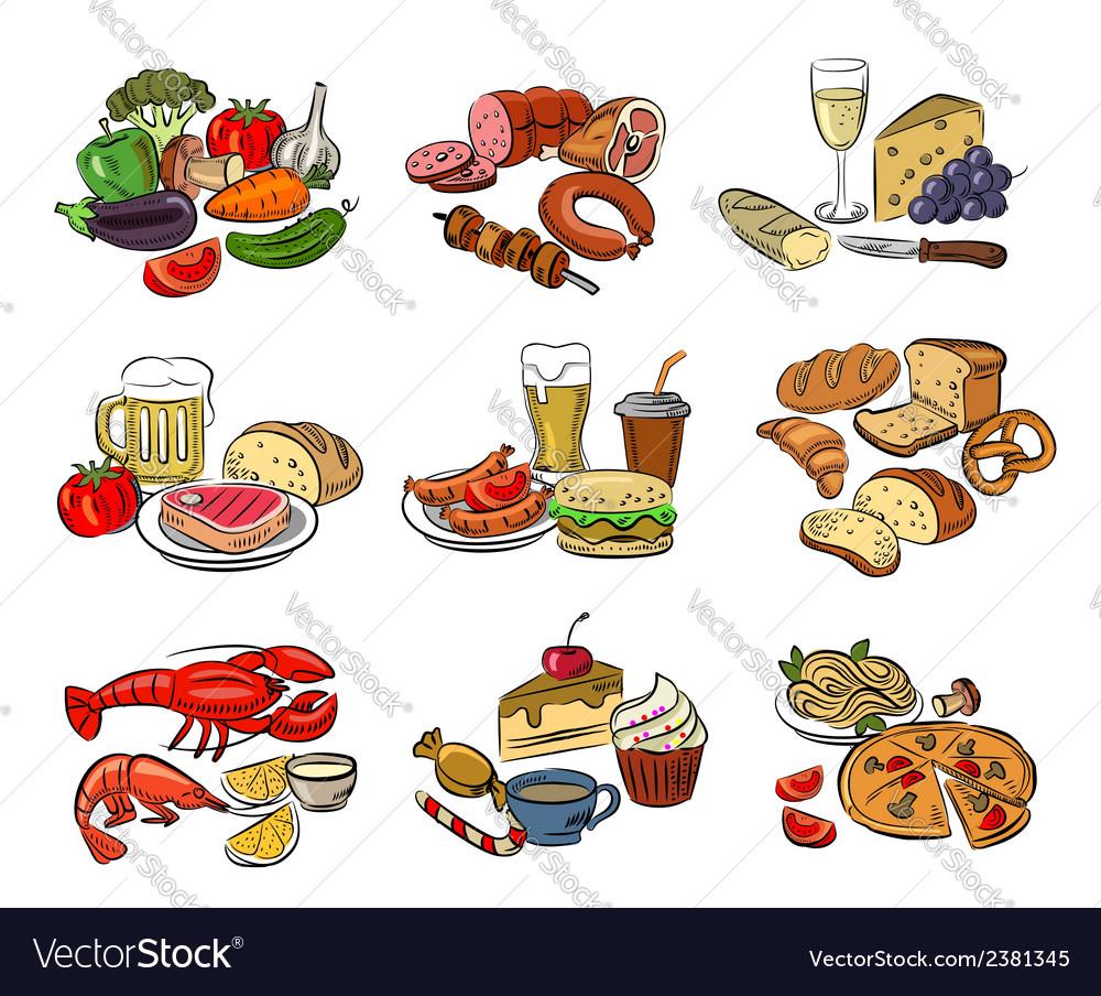 Color food vector | Price: 1 Credit (USD $1)