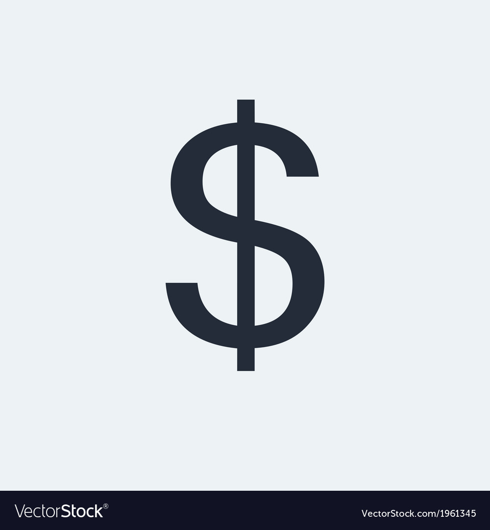 Dollar flat icon vector | Price: 1 Credit (USD $1)