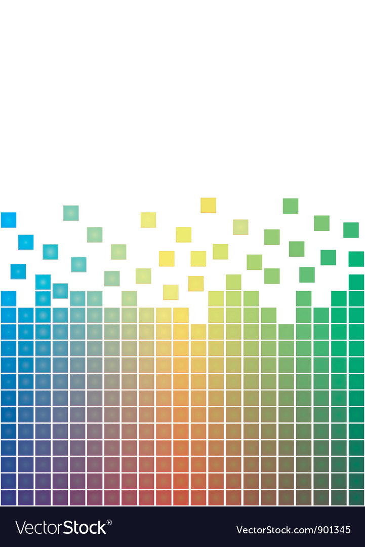 Falling pixels vector | Price: 1 Credit (USD $1)