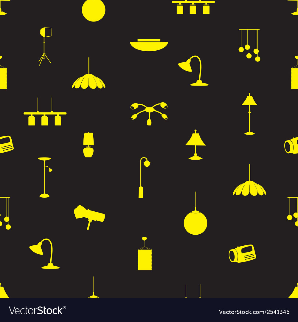 Lighting icons pattern eps10 vector | Price: 1 Credit (USD $1)