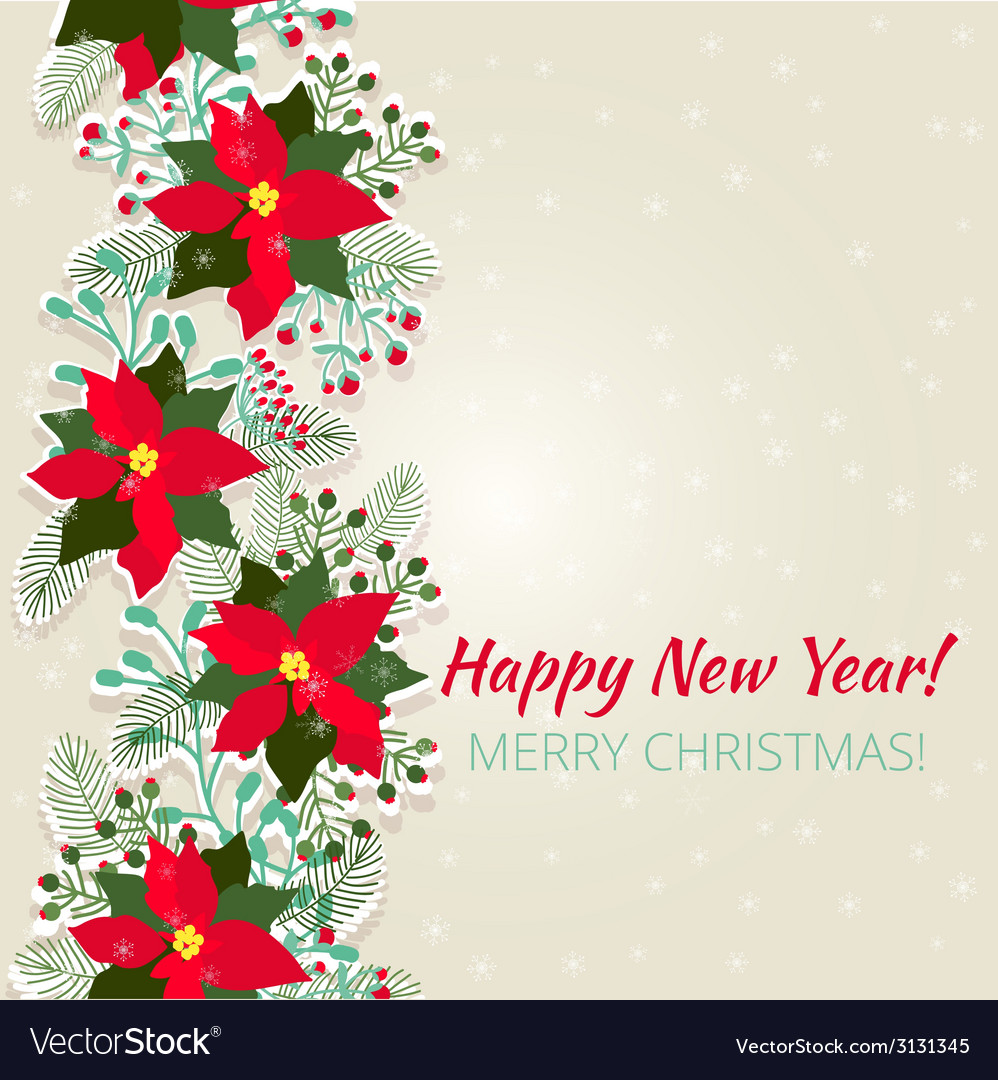 Merry christmas and happy new year card vector   Price: 1 Credit (USD $1)