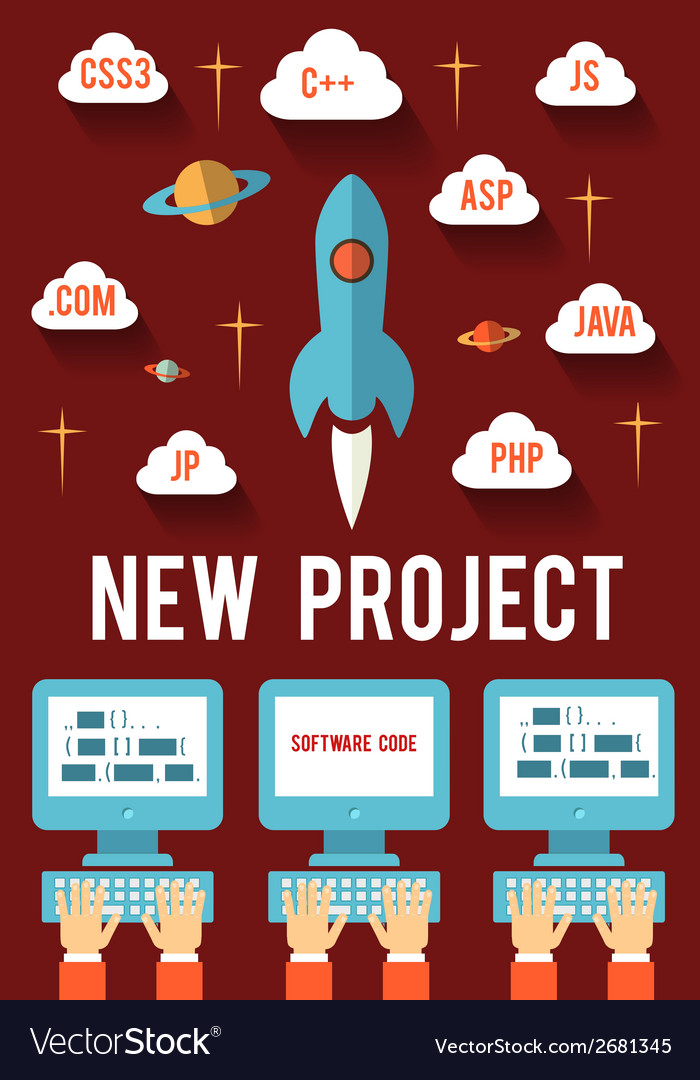 New business project vector | Price: 1 Credit (USD $1)