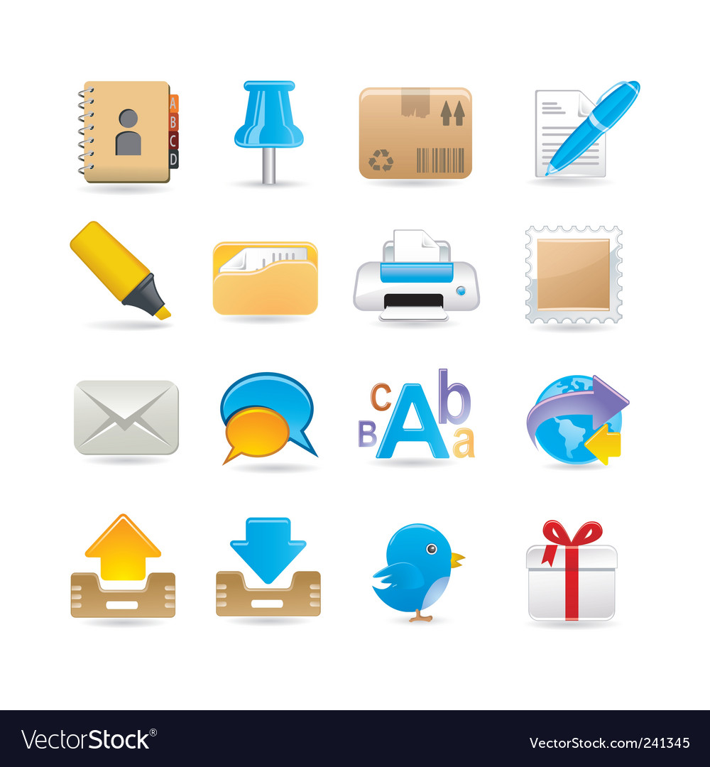 Post office set vector | Price: 3 Credit (USD $3)