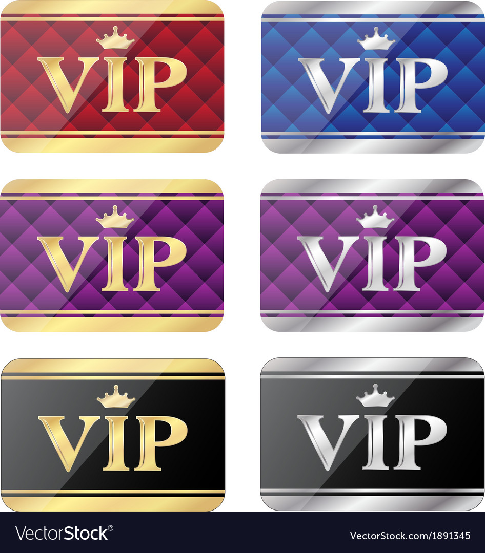 Vip gift cards vector | Price: 1 Credit (USD $1)