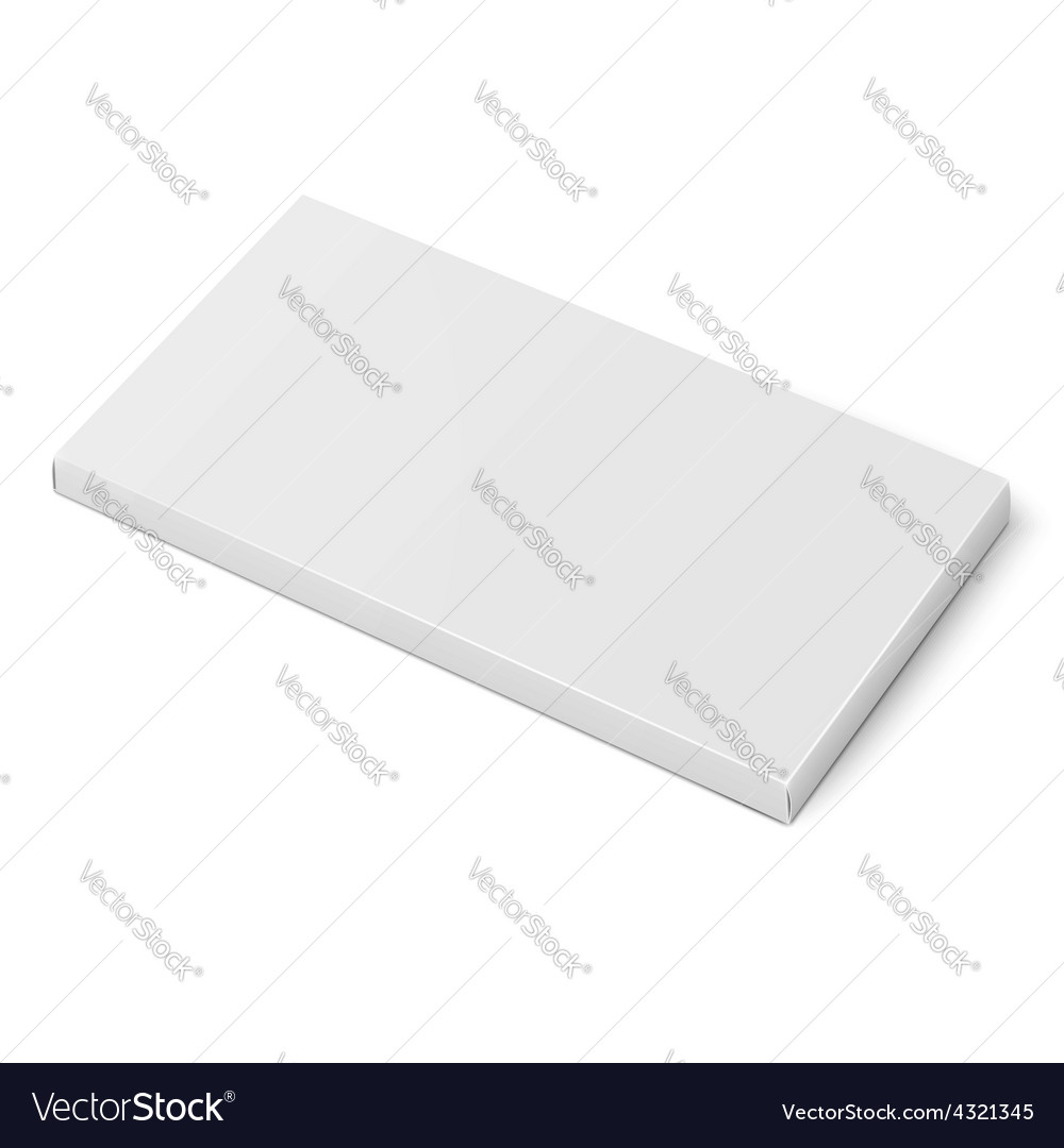 White slim cardboard box template vector | Price: 1 Credit (USD $1)