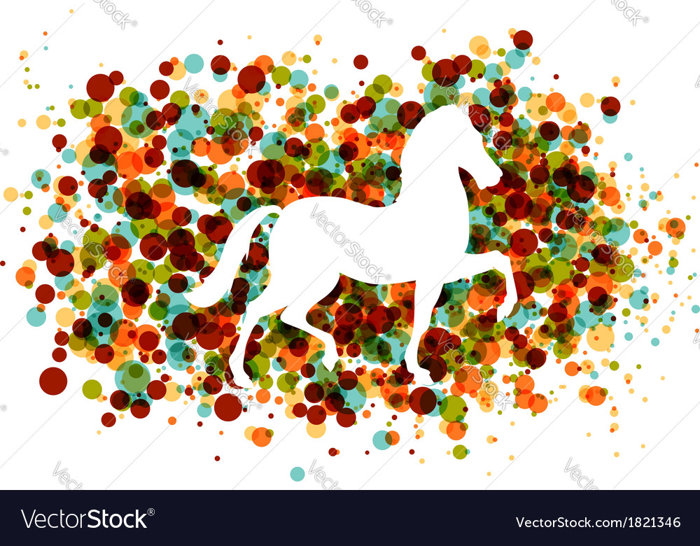 Chinese new year of the horse bubbles eps10 file vector | Price: 1 Credit (USD $1)