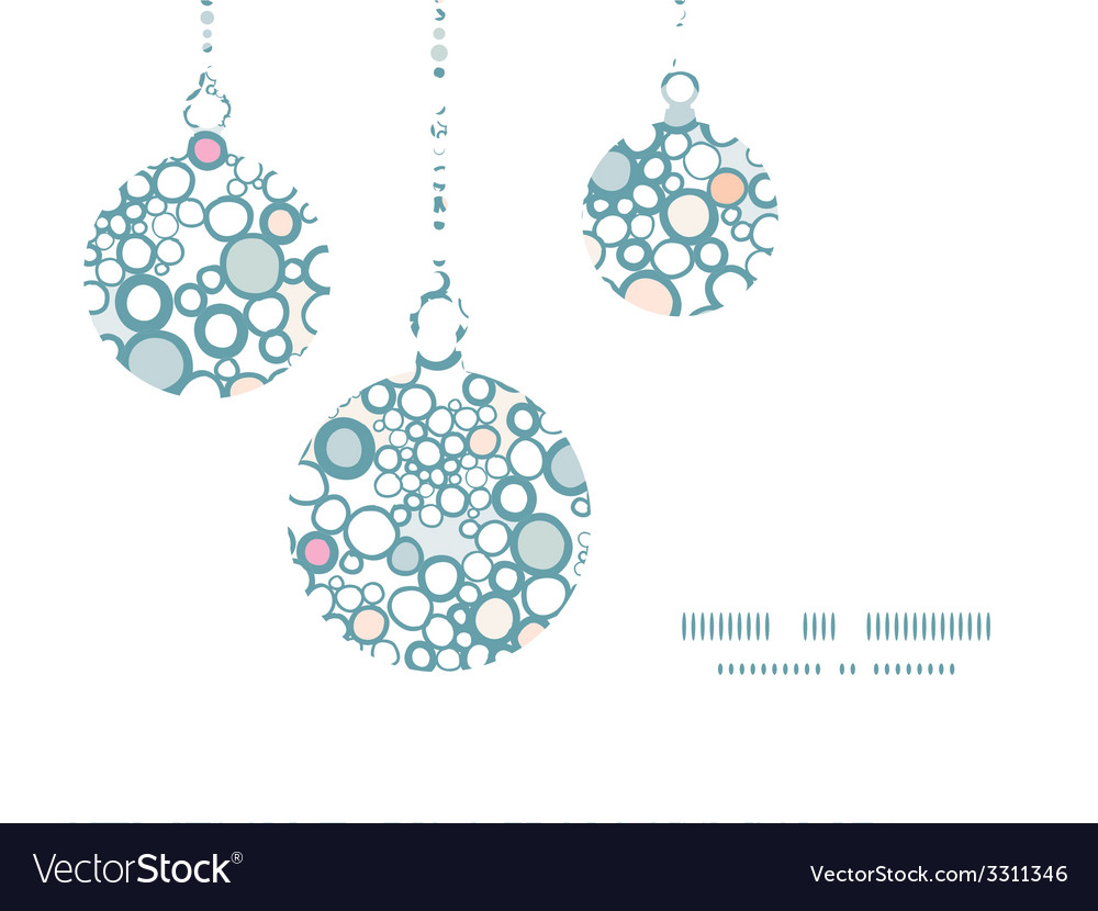 Colorful bubbles christmas ornaments silhouettes vector | Price: 1 Credit (USD $1)